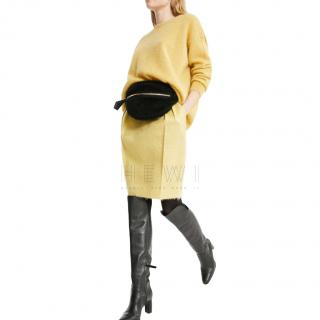 Max Mara Yellow mohair & wool Crew Neck Jumper