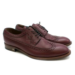 Louis Vuitton Men's Burgundy Leather Brogues