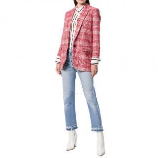 Isabel Marant Etoile Red Tweed Jacket