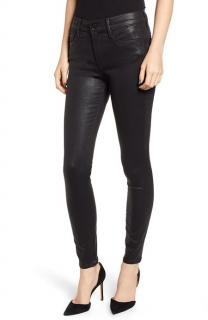 Frame Skinny de Jeanne Black Coated Denim jeans