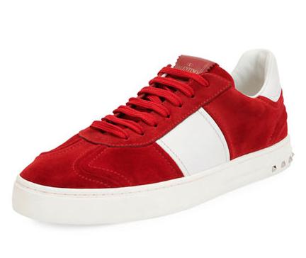 Valentino Garavani Fly Suede Low-Top Sneaker