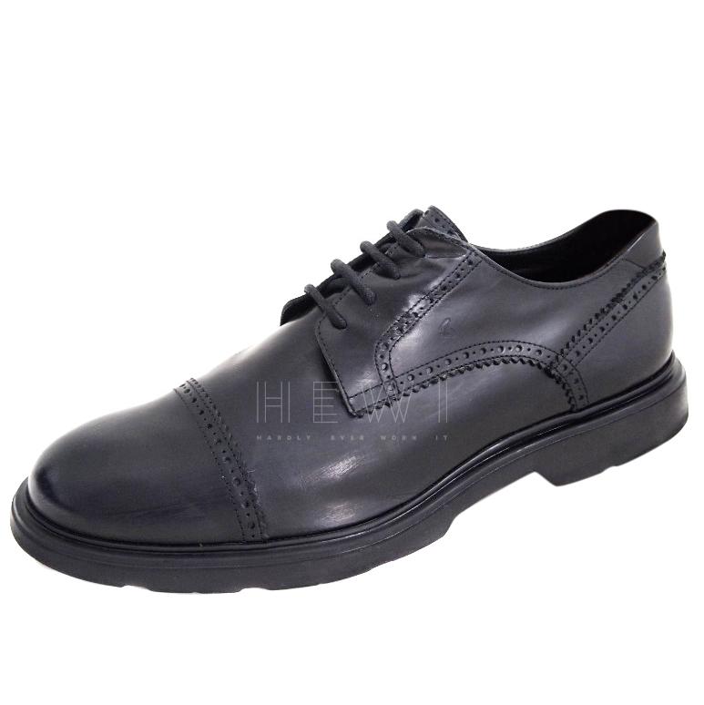 Hogan Black Leather Brogues