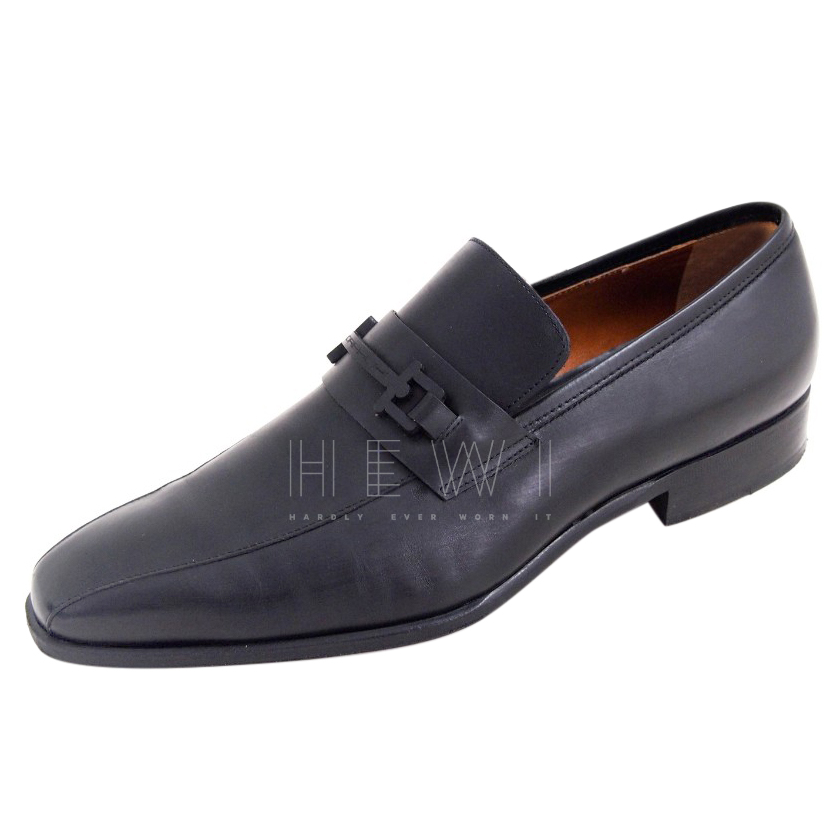 Moreschi Black Men's Leather Loafers