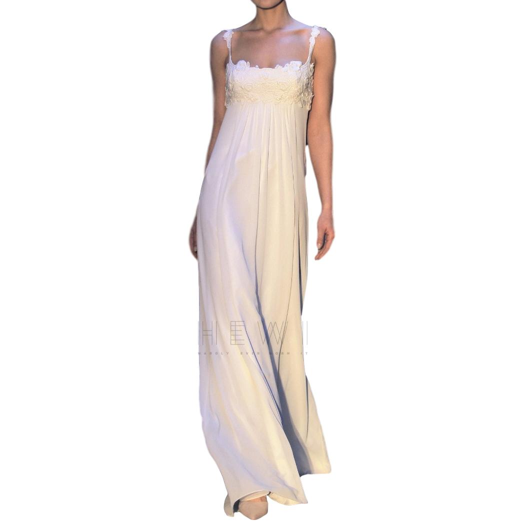 David Fielden Chiffon Empire Cut Wedding Dress