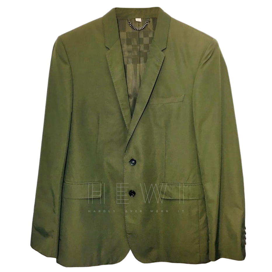 Burberry Khaki Tailored Jacket