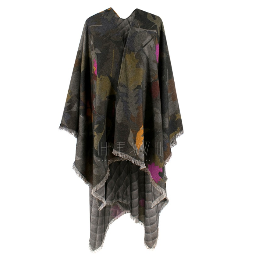 Chanel Printed Cashmere Fringed Cape