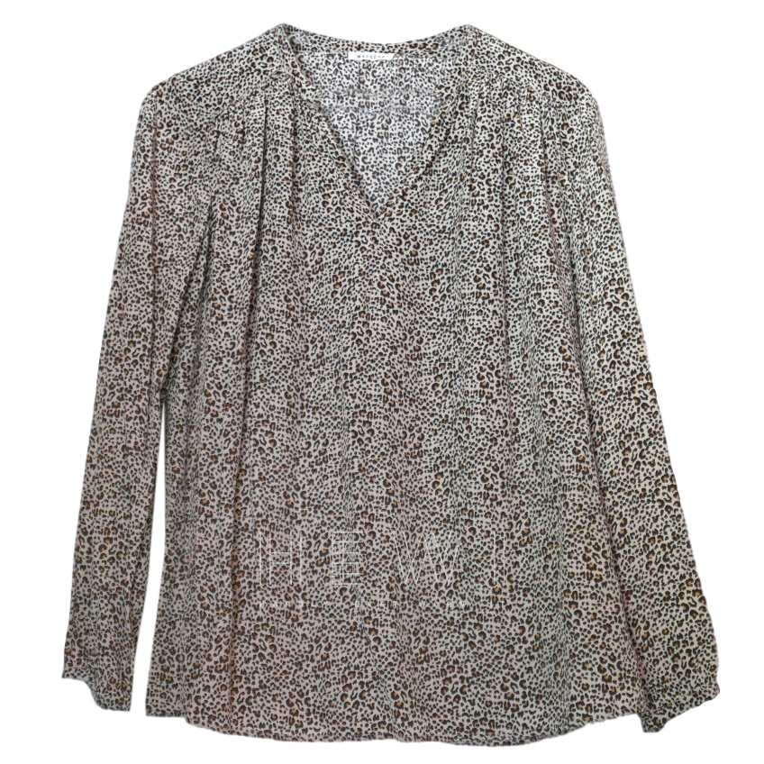 Masscob Printed Silk Oversize Blouse