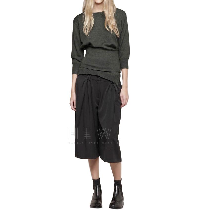 Acne Genevie Khaki Wool Tube Jumper