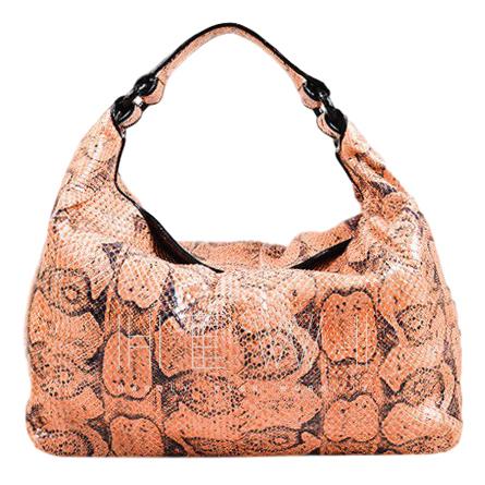 Bottega Veneta Pink Python Sloane Tote Bag