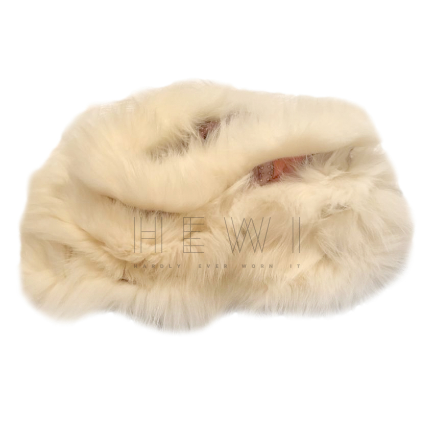 Gucci Fox Fur Trim Pink Silk Snood