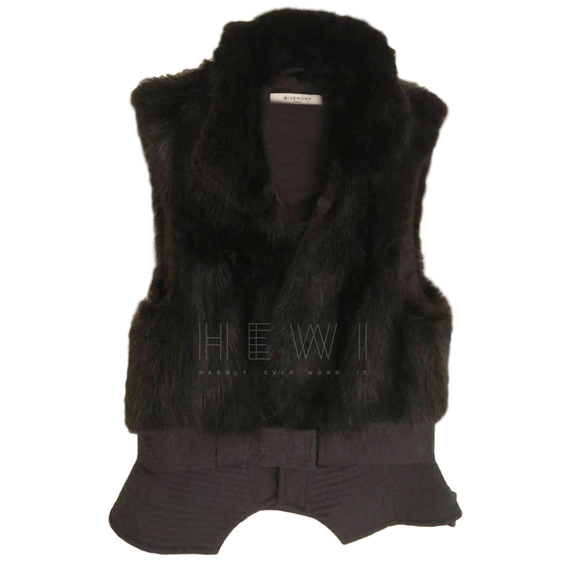 Givenchy Fur Trim Gilet