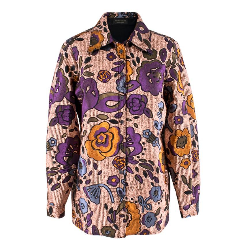 Burberry Metallic Floral Jacquard Shirt