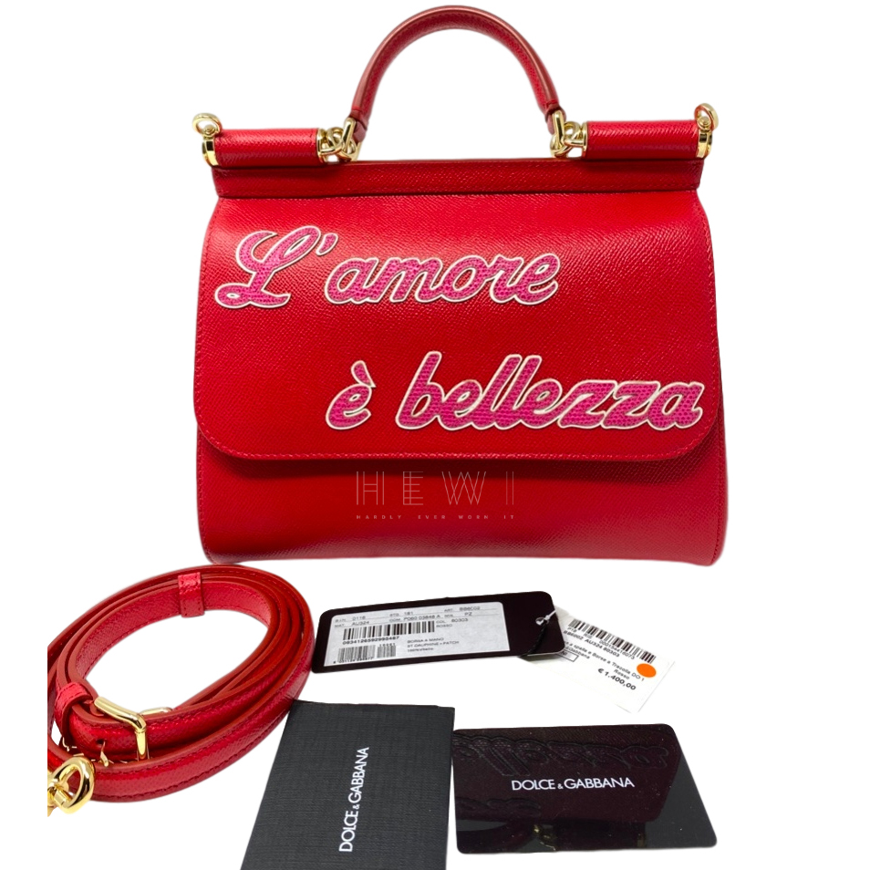 Dolce & Gabbana Red Sicily Shoulder Bag