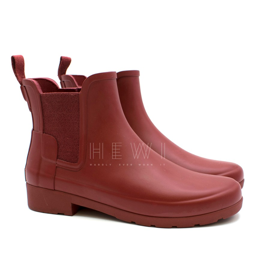 Hunter Red Ankle Chelsea Boots