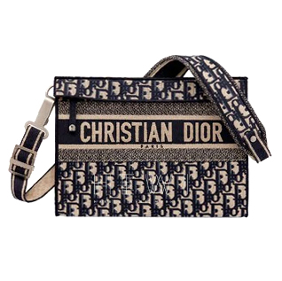 Christian Dior Oblique Embroidered Clutch Bag - New Season