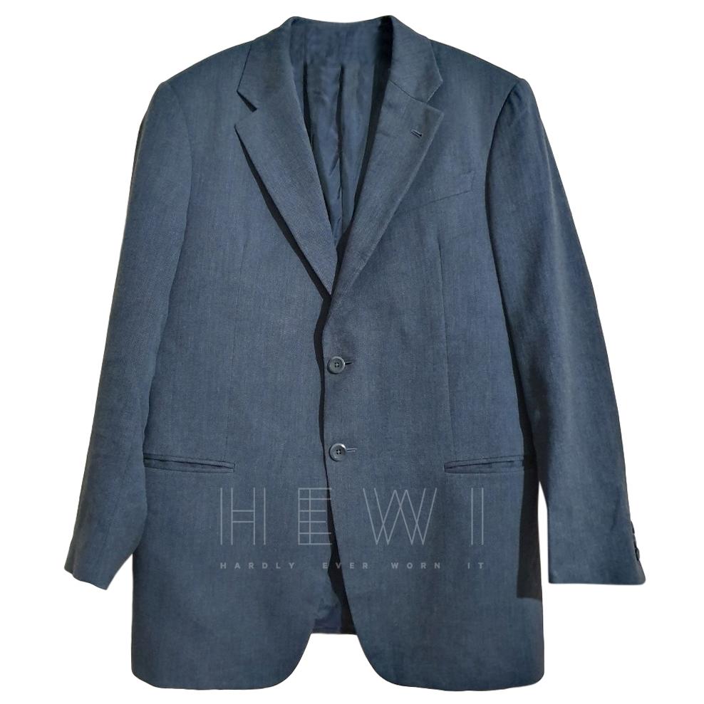Armani Collezioni grey linen blend blazer