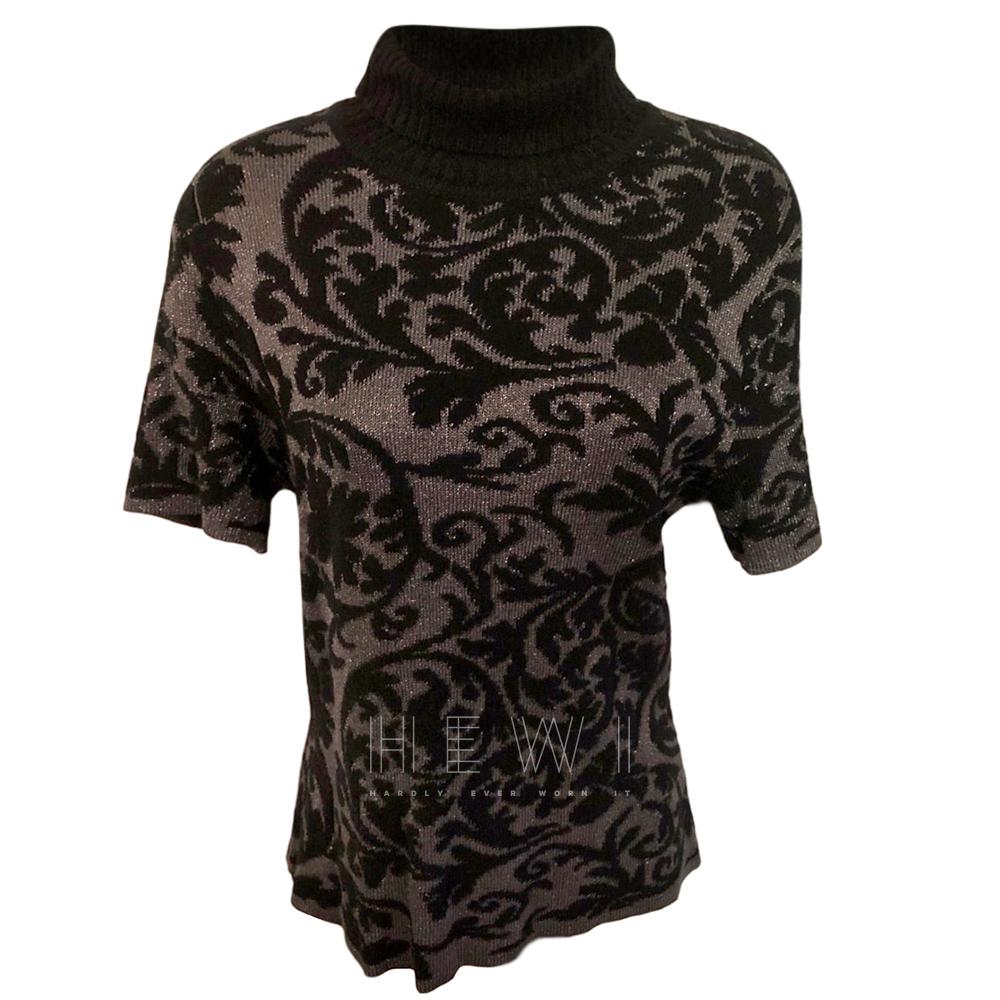 Nina Ricci black damask knit jumper