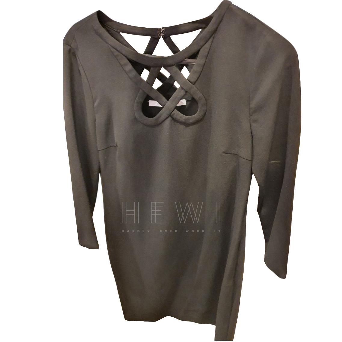 Diane Von Furstenberg black cut-out dress