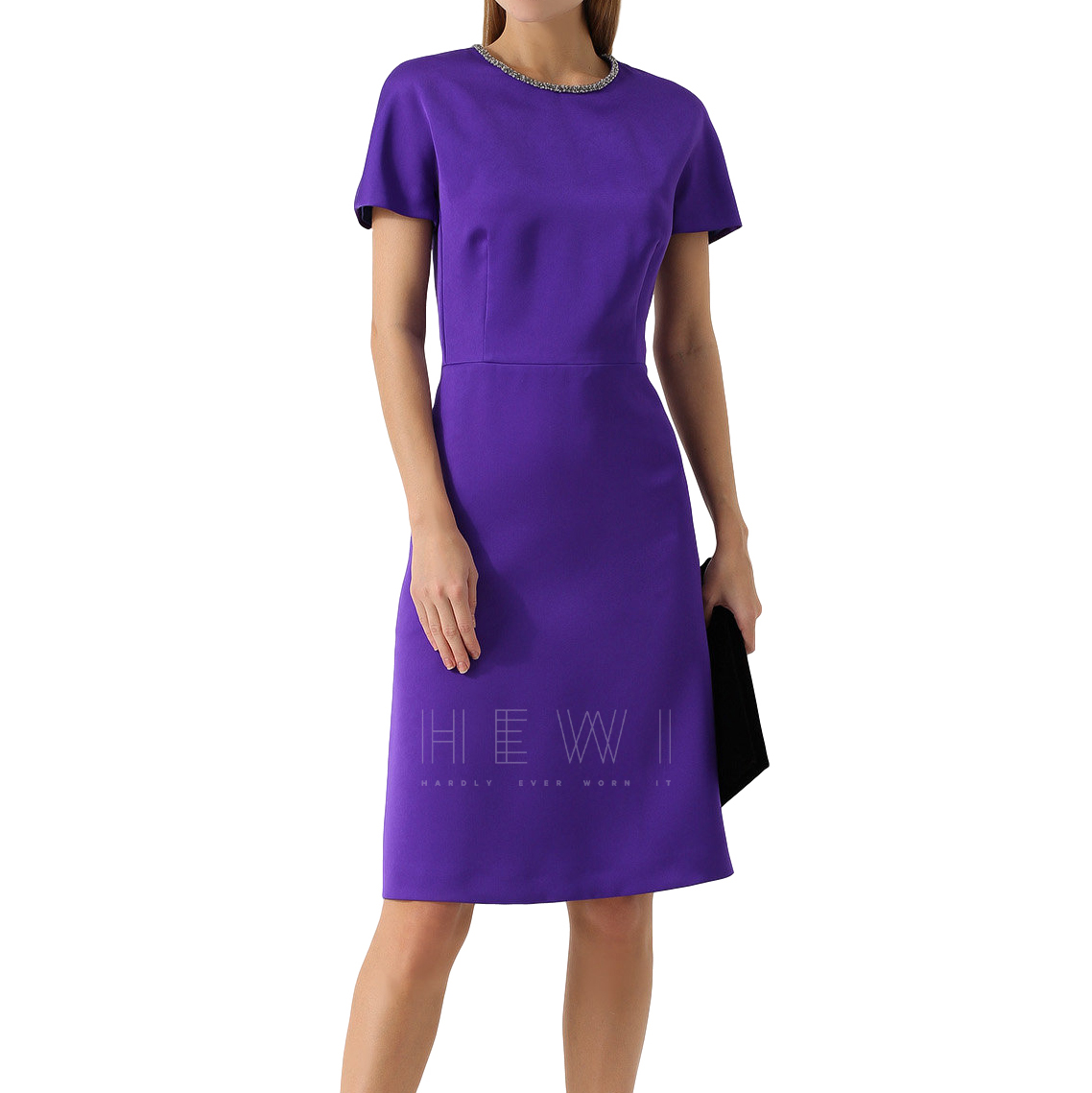 Escada Purple Crystal Trim Dress