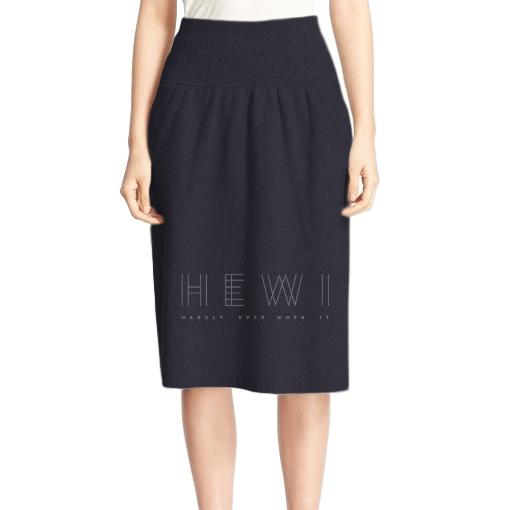 Joseph Wool Knit A-Line Skirt
