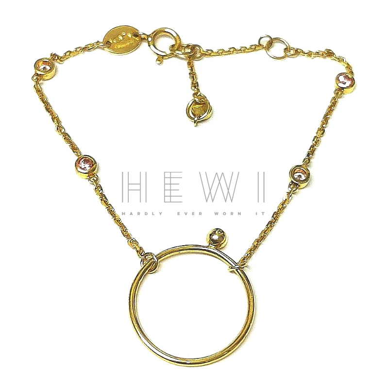 Links of London 18ct Yellow Gold Sapphire By The Yard Bracelet