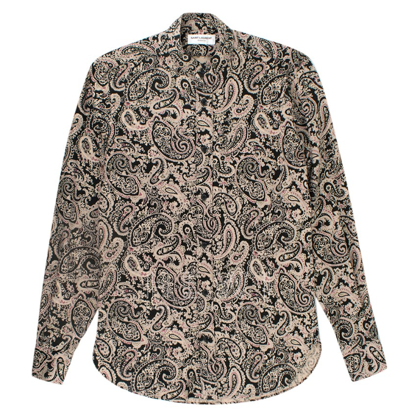 Saint Laurent Men's Paisley Print Shirt