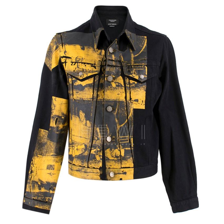Calvin Klein 205W39NYC x Andy Warhol Denim Car Crash Jacket