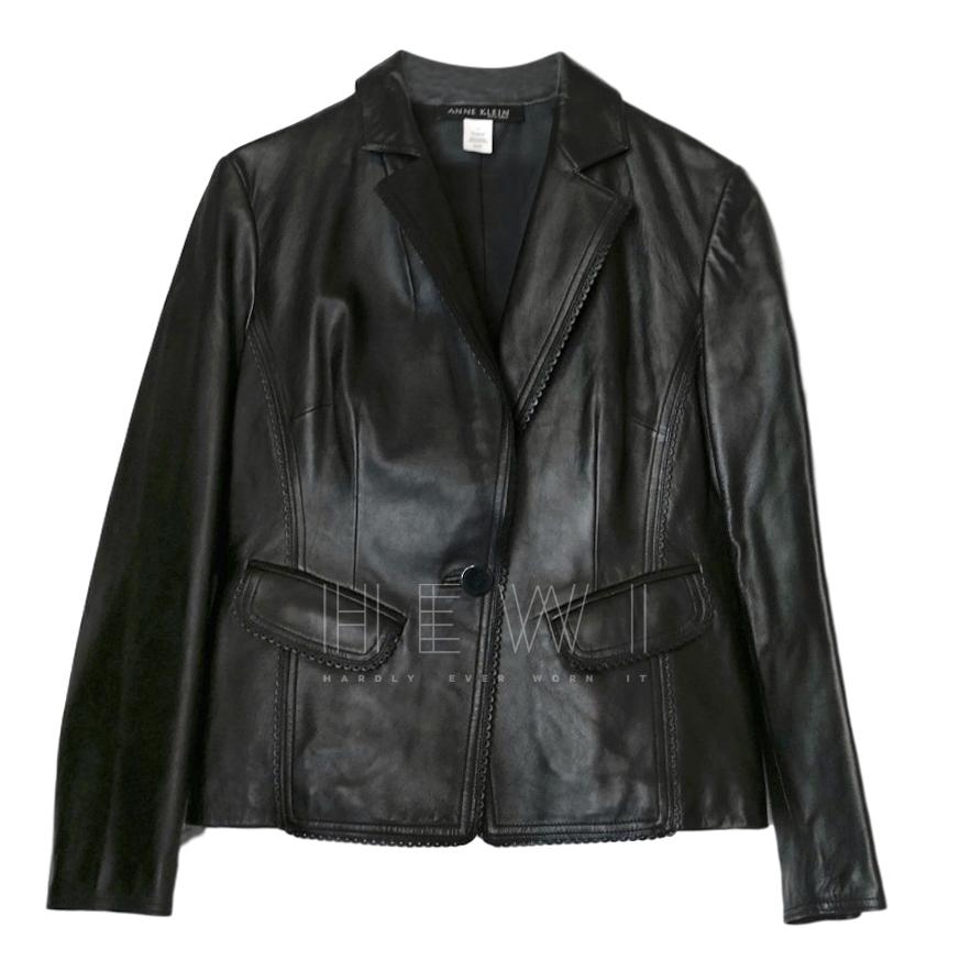 Anne Klein Black Leather Jacket