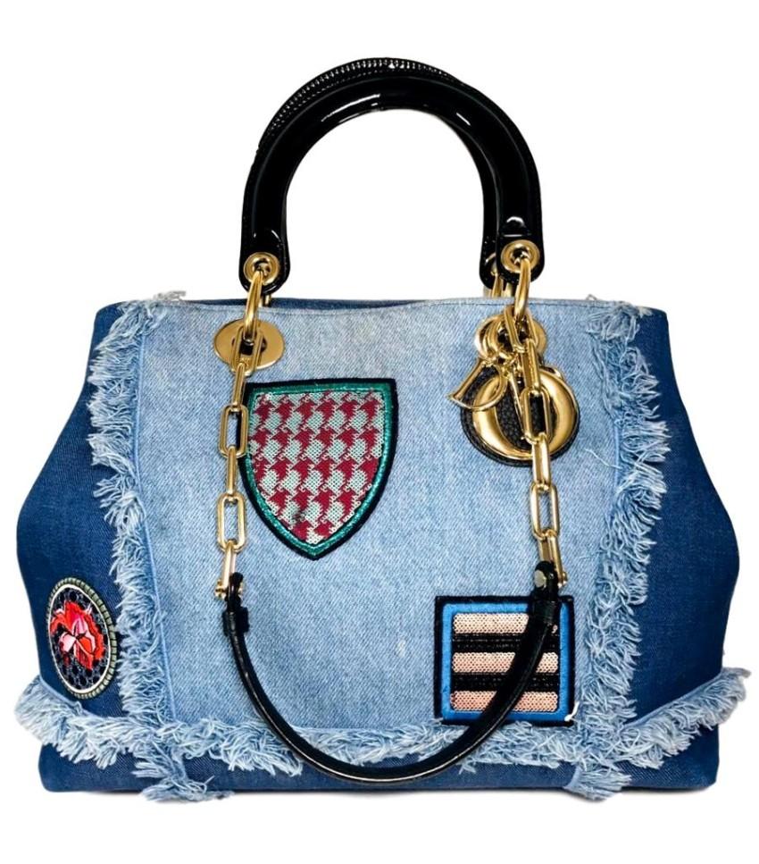 Dior Denim D Light Limited Edition Tote Bag