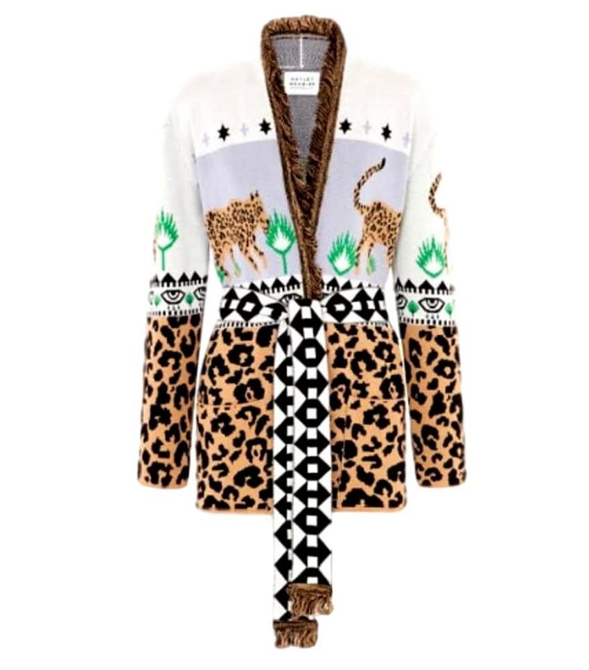 Hayley Menzies Leopardess Short Cardigan in Lilac