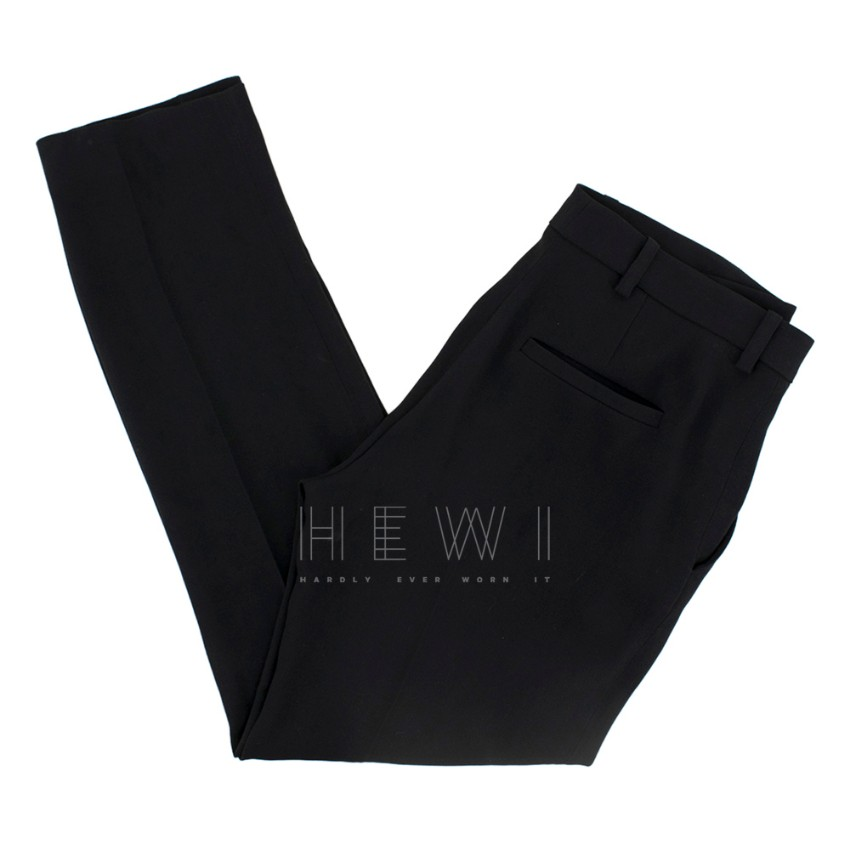 Vanessa Bruno Black Crepe Tailored Trousers