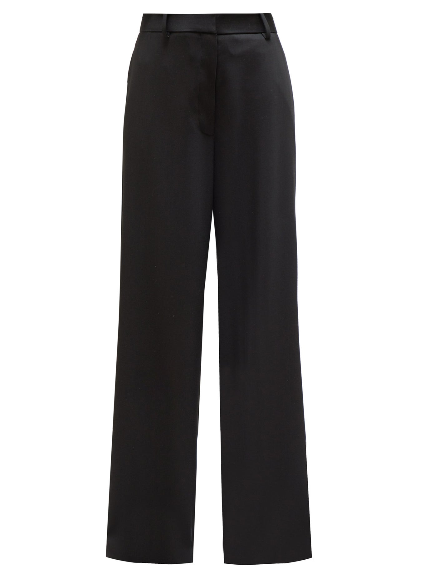 Gucci black wool-blend high-waisted tailored trousers