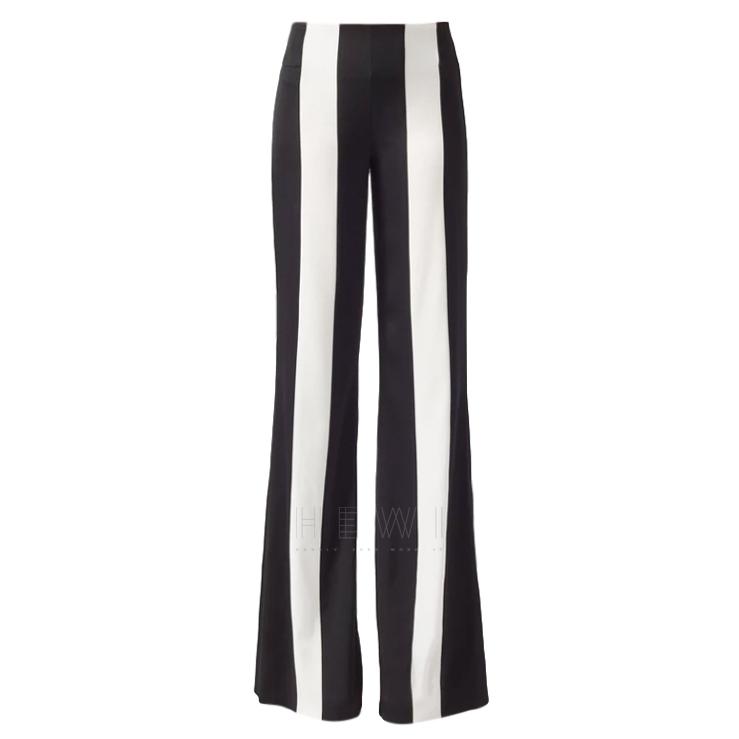 Galvan Black & White Striped Marlene Trousers
