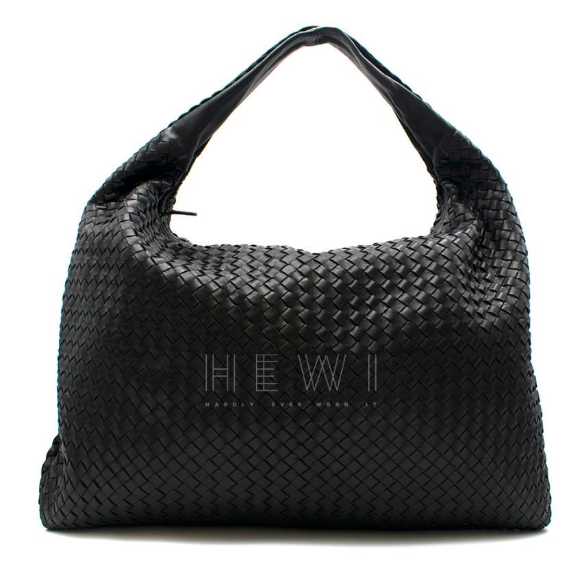 Bottega Veneta Black Large Intrecciato Hobo Bag