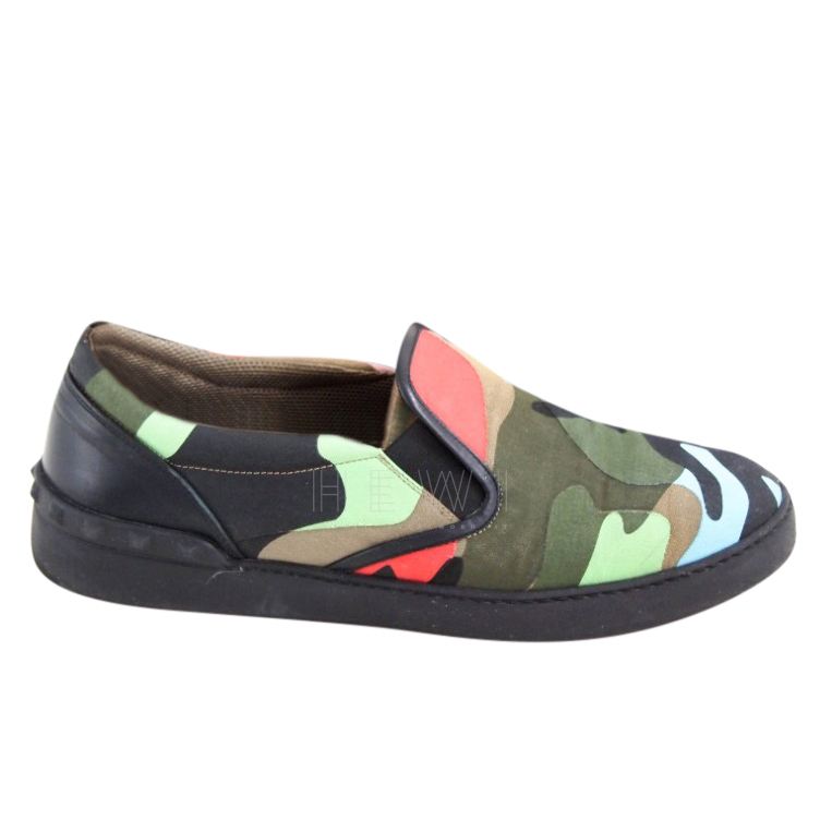 Valentino Rockstud Camo Slip-On Sneakers