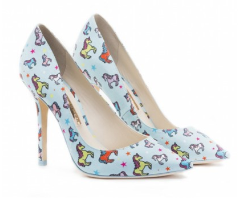 Sophia Webster lola blue unicorn 100 pumps