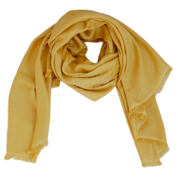 Max Mara Yellow Silk Scarf
