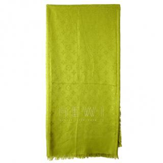 Louis Vuitton Lime Green Silk & Wool Shine Shawl
