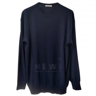 Celine Navy Wool Sweater