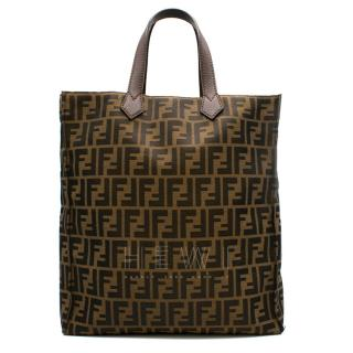 Fendi Brown Zucca Canvas Shopper Tote