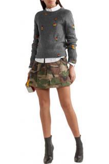 Marc Jacobs Camouflage-print cotton-twill mini skirt