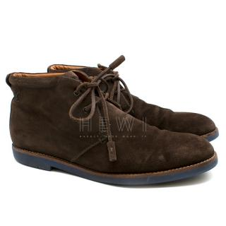 Louis Vuitton Brown Suede Ankle Boots