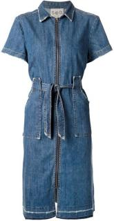 Sea New York Zip front denim dress
