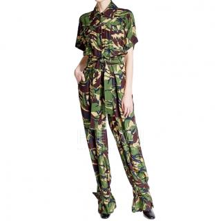 Off White C/O Virgil Abloh Silk Camo Jumpsuit