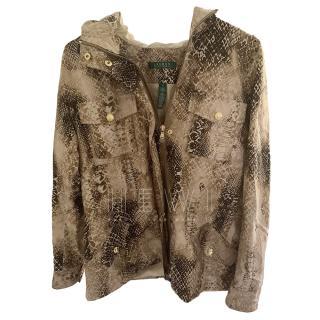 Lauren Ralph Lauren Snakeskin Print Jacket