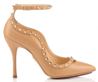 Charlotte Olympia Nude Studded Pimlico Sandals