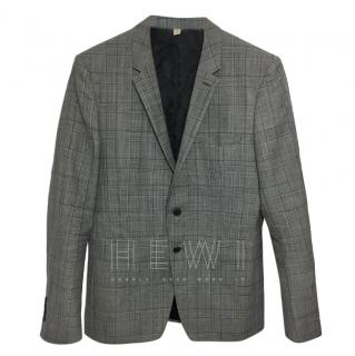 Burberry Wool Plaid Men's Blazer