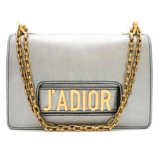 Christian Dior Silver J'Adior Calfskin Flap Bag