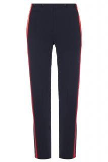 Rag & Bone red side striped navy trousers