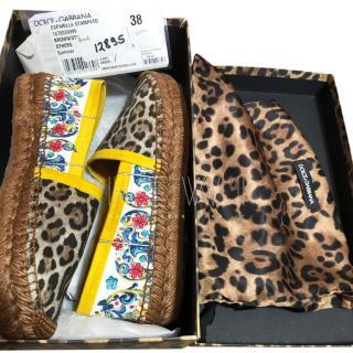 Dolce & Gabbana Sicily Leopard Print Espadrilles